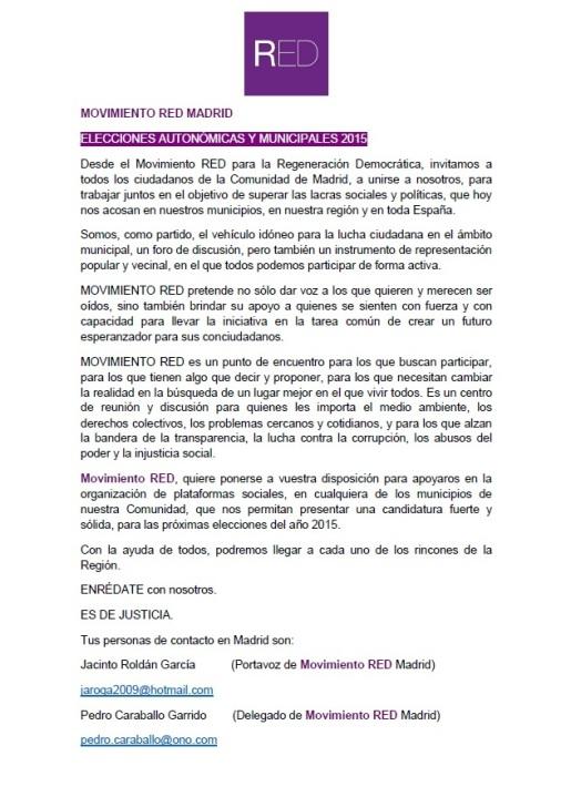 comunicado ciudadanos Madrid